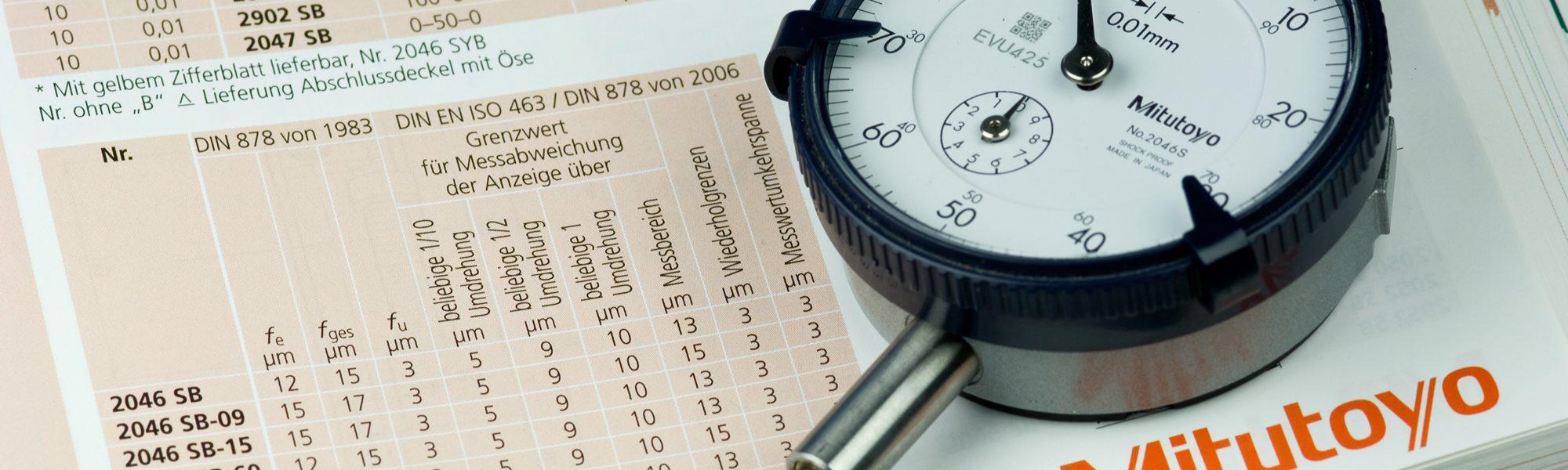 Instrumentos de medición mitutoyo.